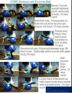 Core workout with ball