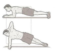 Side plank with crunches