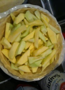 apples cut up and ready to go