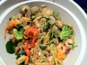 Stir fry with brown rice