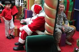 waiting to see santa