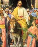 jesus on palm sunday
