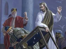 jesus overturning tables