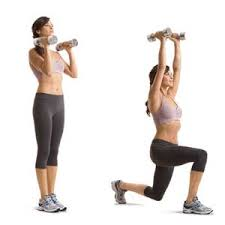 lunging with weights