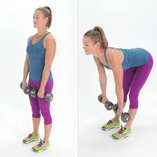 Deadlifts with dumbbells