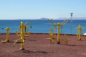 playground  on beach