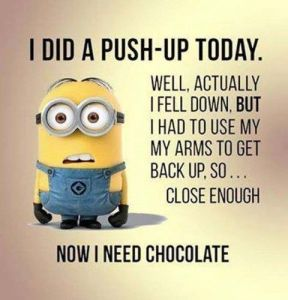 I did a pushup